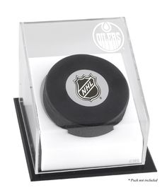 Edmonton Oilers Hockey Puck Logo Display Case