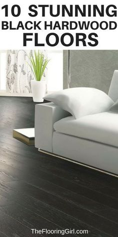 Black Hardwood Flooring 10 Stunning Black Hardwood Floors and Black Stain Colors Black Hardwood Floors, Refinishing Hardwood Floors, Dark Hardwood, Décor Boho, Dark Interiors, Diy Home Decor Projects, Stain Colors, Colours, Do It Yourself Home