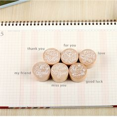 6 pcs/lot DIY Blessing Vintage Wooden Rubber Stamp Thank You Miss You Love Stamps for Decoration Scrapbooking Free shipping 608-in Stamps from Office & School Supplies on Aliexpress.com | Alibaba Group