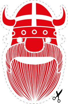 Viking printable for the kids! #Vikings #Printable #partyideas #partymask #mask