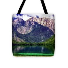 """Grand Tetons National Park Painting Tote Bag 16"""" x 16"""" by  Dr Bob and Nadine Johnston"""