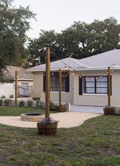 Backyard Makeover Reveal: Riverside Retreat 50 Diverse Modern of Patio Ideas Design Backyard Patio Designs, Backyard Projects, Backyard Landscaping, Backyard Porch Ideas, Front Patio Ideas, Simple Backyard Ideas, Cheap Landscaping Ideas, Backyard Seating, Backyard Makeover