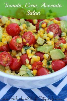 Tomato, Corn, Avocado