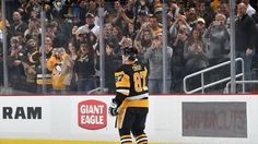 Sidney Crosby salutes the home crowd after getting his 1000th point of his kick-ass career. From 2/16/2017