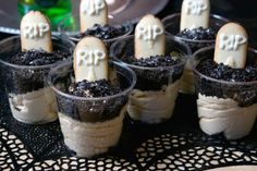 Graveyard Pumpkin Parfaits Recipe
