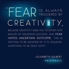 Every Eat Pray Love author Elizabeth Gilbert shares quotes from her book Big Magic — and they are just too good not to share. Quotes To Live By, Me Quotes, Motivational Quotes, Inspirational Quotes, Wisdom Quotes, Book Qoutes, Unique Quotes, Sport Quotes, Film Quotes