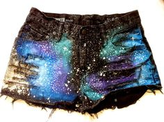 Galaxy Shorts by TheGypsyShopEtsy on Etsy, $45.00...I NEED THESE!!!!!!!!!!!!!!!!!!!!!!