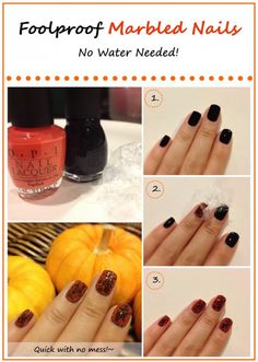 Simple do yourself nail designs nail polish trends easy nailpolish how to marbled nails easy waterless mess free pretty gossip solutioingenieria Choice Image