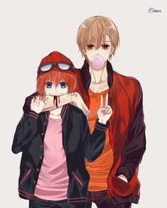 Anime Couples Drawings, Anime Couples Manga, Otaku Anime, Manga Anime, Anime Siblings, Cute Couple Comics, Anime Friendship, Cute Anime Coupes, Cute Love Images