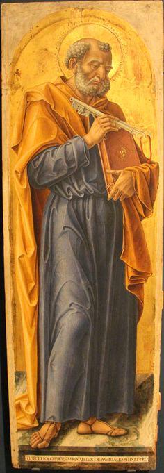 Bartolomeo Vivarini - Polittico di Sant' Ambrogio: San Pietro (pannello del) - 1477 - Gallerie dell'Accademia, Venezia