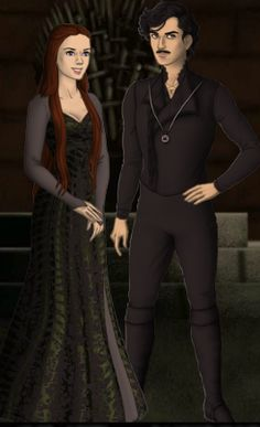 Lycorus Black (1808) and his fiancee Magenta Tripe (death in 1902). Magenta was sorted into Slytherin House. Magenta is the older sister of Reginald Tripe and the sister-in-law of Wilma Brown-Tripe.