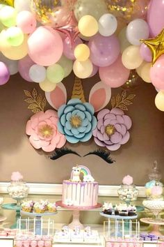 2 x Personalised Unicorn Faces Birthday Party Banners with Photo