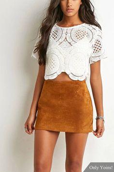 Ginger Suede Mini Skirt