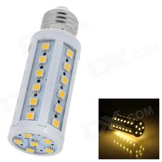 Brand: N/A; Model: W-L42YM7W; Material: Aluminum; Color: White + silver; Quantity: 1; Emitter Type: SMD 5050 LED; Total Emitters: 42; Power: 7 W; Color BIN: Warm white; Rate Voltage: 85~265 V; Chip Working Voltage: 3.3V; Luminous Flux: 700~800 lm; Color Temperature: 3000~4000 K; Wavelength: N/A nm; Connector Type: E27; Application: Great for home or store lighting; Packing List: 1 x LED light bulb; http://j.mp/1lkyCuH
