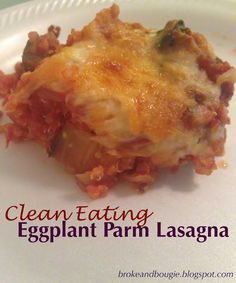 Mmmm clean eating lasagna! This gooey clean Italian recipe is delicious with vegetarian option