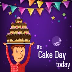 OMG! It's Cake Day Today.The best way to celebrate this day is by eating cake with family and friends. Celebrate good times, Come on! #CakeDay #TehzeebBakers