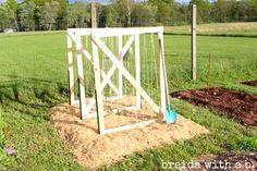 Simple Hand Built climber trellises! breidawithab.com