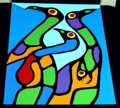 Norval Morrisseau - Original paintings, drums, rare prints from House of the Spirit Bear