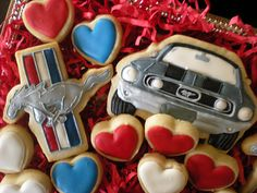 Mustang Cookies for my husband :)