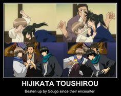 Gintama ~~ Gotta be cruel to be kind, in the right measure. :: Sougo and Hijikata