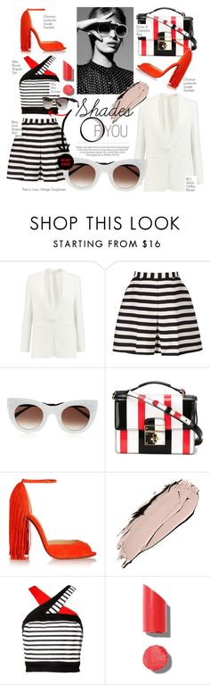 """""""Shades Of You: Contest Entry #ShadesofYou"""" by chrisger ❤ liked on Polyvore featuring Kershaw, IRO, Reiss, Thierry Lasry, Dolce&Gabbana, Christian Louboutin, Chanel and Miu Miu"""