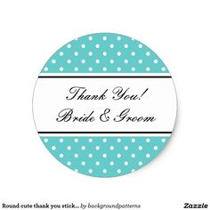 Shop Round cute thank you stickers for wedding favors created by backgroundpatterns. Wedding Favor Labels, Wedding Invitations Online, Personalized Wedding Favors, Diy Wedding Favors, Fancy Envelopes, Wedding Envelopes, Cute Wedding Ideas, Wedding Themes, Wedding Hairsyles