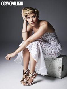 Scarlett Johansson | Scarlett Johansson on Cosmopolitan May 2016 | POPSUGAR Celebrity