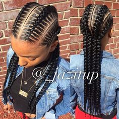 4 #FeedInBraids #knotlessbraids with #skinnybraids in between #JAZITUPHAIR…