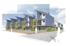 Salford Housing Regeneration Competition - An Architectural competition entry for a mixed use / housing regeneration project in Salford, Manchester.