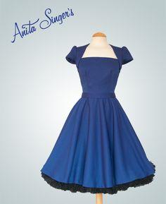Vestido Nieves by Anita Singers. Piezas únicas y a medida inspiradas en los años 50´s. www.anitasingers.com