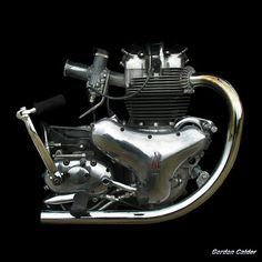 NO 46: CLASSIC BSA A10 SUPER ROCKET MOTORCYCLE ENGINE (2) | by Gordon Calder