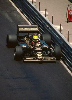 Ayrton Senna, Lotus-Renault 97T, 1985 Monaco GP, Monte Carlo