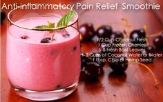 Anti-inflammatory Pain Relief Smoothie #healthy #clean