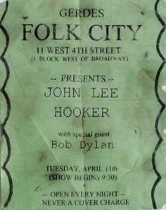 04 11 1961 -Gerdes Folk City - Bob Dylan