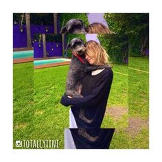 Tini Stoessel with her dog.
