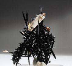 Minerals, Crystals & Fossils — Black Aegerine with Quartz and Zircon Cool Rocks, Beautiful Rocks, Minerals And Gemstones, Rocks And Minerals, Natural Crystals, Stones And Crystals, Gem Stones, Rock Collection, Mineral Stone