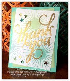 Craft-somnia Momma: Shiny Happy Thank You ~ Monday Montage