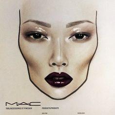 MAC face chart by Amalia Bot