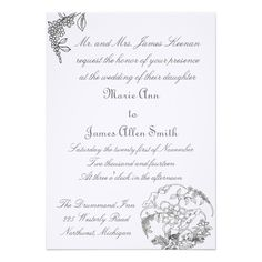 Lotus Blossom Wedding Custom Invitation A beautiful soft lotus blossom sketch is featured on this invitation.  Personalize the text with your wedding information.  The invitation is available in a wide variety of paper stock.  The example shown is on linen for $2.80 each.  Because of personalization the invitation can be used for other occasions. www.zazzle.com/whitewavespaperie*/