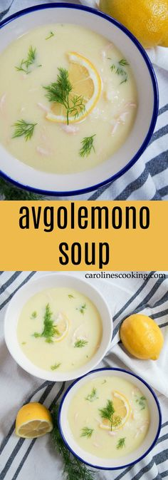 Avgolemono soup is the Greek answer to chicken noodle soup, but I've got to say - I think they win. Not only is it comfortingly warming, it has a lovely lemony undertone. Perfect for a cold day.