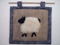 sheep  needle felted picture by TimberwolfWool on Etsy, $28.00