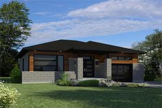 Front elevation of Bungalow home (ThePlanCollection: House Plan #158-1300)