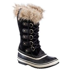 Sorel Joan of Arctic Waterproof Lined Winter Boots for Ladies - Black - 6M