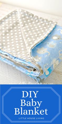 Do It Yourself Projects, Cool Diy Projects, Little House Living, Baby Blanket Size, Baby Receiving Blankets, Cute Blankets, Make Your Own, Baby Gifts, Amazing Crafts