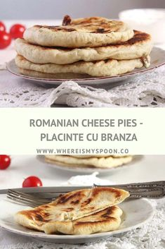 Savory cheese pies or Romanian placinte cu branza this is a traditional Romanian recipe for pies filled with feta cheese green onions and fresh dill. Not deep-fried! Sicilian Recipes, Turkish Recipes, Greek Recipes, Pie Recipes, Dinner Recipes, Eastern European Recipes, European Cuisine, Romanian Food, Romanian Recipes