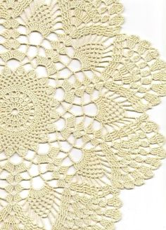 Hand crochet beautiful doily, made from cream cotton. Diameter about Will be adorable decoration at your home, will look great on any table. Perfect as a gift or just to treat yourself. Would like this doily in different colour, just l. Crochet Dollies, Crochet Doily Patterns, Crochet Mandala, Thread Crochet, Filet Crochet, Crochet Motif, Irish Crochet, Hand Crochet, Crochet Stitches