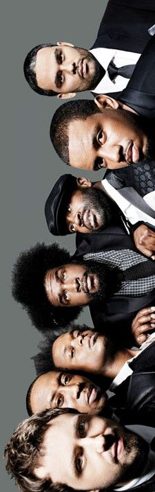 "The Roots, hip-hop band. Their work has been repeatedly met with critical acclaim, and they are best known for hits You Got Me, What They Do, Proceed, Adrenaline!, The Seed 2.0, & Wake Up, Everybody. They currently perform as the house band on Late Night with Jimmy Fallon and will move with Fallon to The Tonight Show in 2014. They have won 4 Grammys and 3 NAACP awards. About.com ranked them #7 on its list of the 25 Best Rap Groups of All-Time, describing them as ""Hip-hop's 1st legitimate band."""