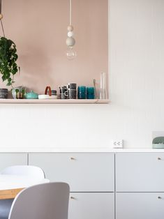 If you're keen to design a kitchen with a feminine, millennial feel, consider working pastel shades into your otherwise grey scheme. Small Kitchen Plans, Narrow Kitchen, Kitchen Ideas, Kitchen Planning, Space Kitchen, Kitchen Corner, Kitchen Decor, Kitchen Interior, Home Interior Design