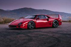 La #Ferrari F40 chaussée de jantes HRE Performance Wheels