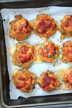 Baked Chicken Meatballs - a hint of honey
